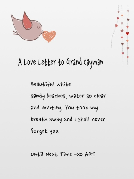 Love Letter to Grand Cayman